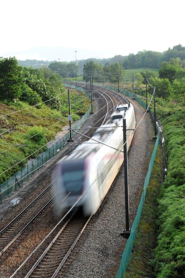 σαφές τραίνο στοκ εικόνα