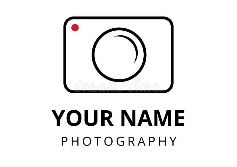 Σαφές ύφος λογότυπων φωτογράφων στοκ εικόνα