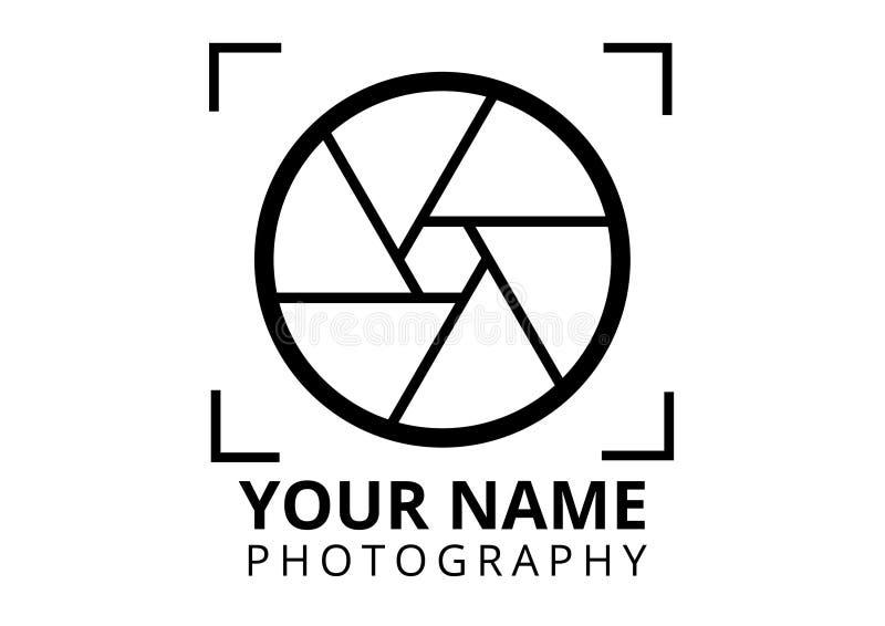 Σαφές ύφος λογότυπων φωτογράφων στοκ εικόνες με δικαίωμα ελεύθερης χρήσης