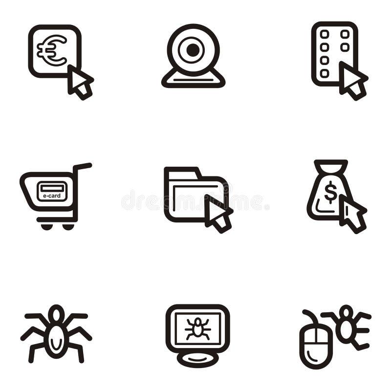 σαφής Ιστός σειράς εικονιδίων απεικόνιση αποθεμάτων