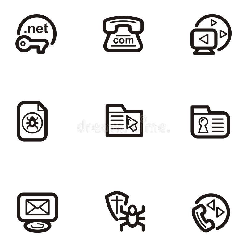 σαφής Ιστός σειράς εικον& απεικόνιση αποθεμάτων