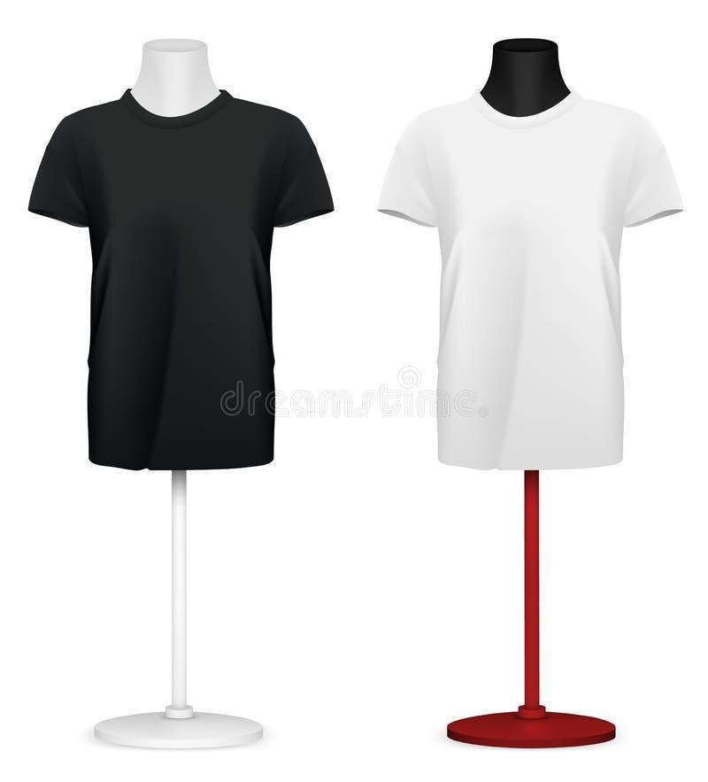 Σαφής μπλούζα στο πρότυπο κορμών μανεκέν διανυσματική απεικόνιση