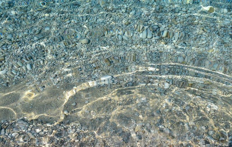 Σαφής σύσταση θαλάσσιου νερού, τοπ άποψη του δύσκολου κατώτατου σημείου Διαφανείς τροπικές ωκεάνιες, κοραλλιογενείς ύφαλοι, αφηρη στοκ εικόνες με δικαίωμα ελεύθερης χρήσης