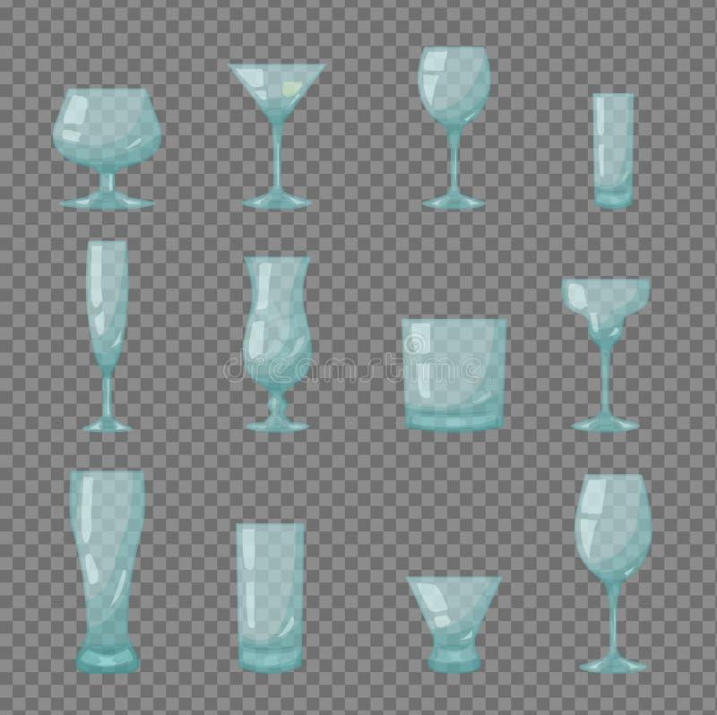 Σαφή διαφανή γυαλιά φραγμών διανυσματική απεικόνιση