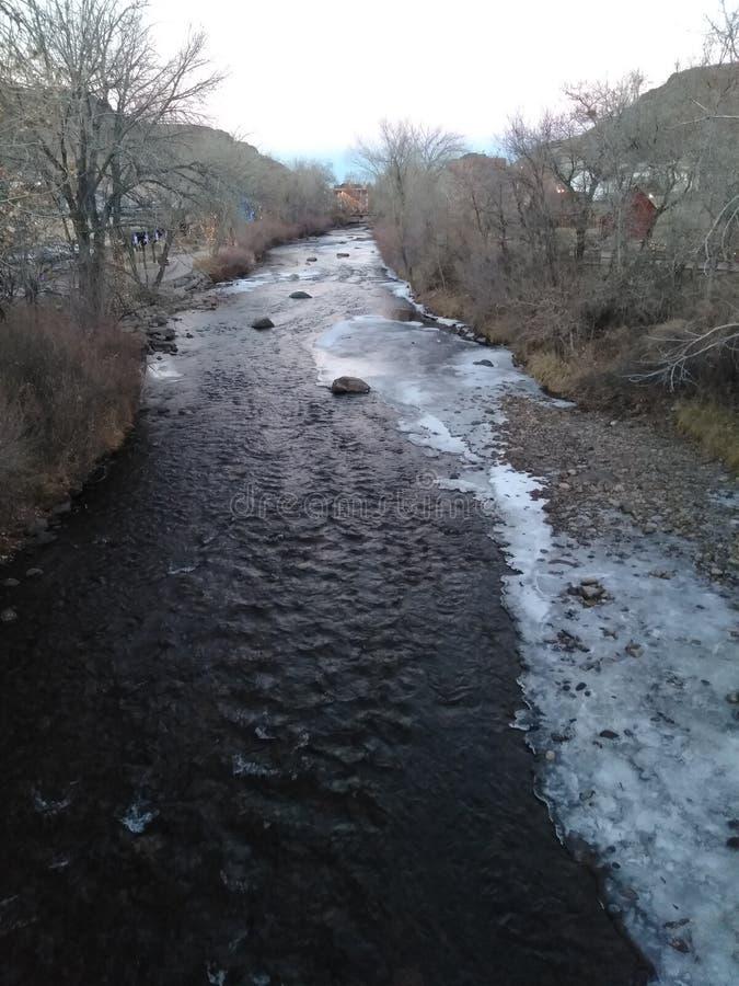 Σαφή ορμητικά σημεία ποταμού κολπίσκου στοκ εικόνες με δικαίωμα ελεύθερης χρήσης
