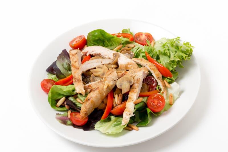 Σαλάτα κοτόπουλου και μανιταριών στοκ εικόνα