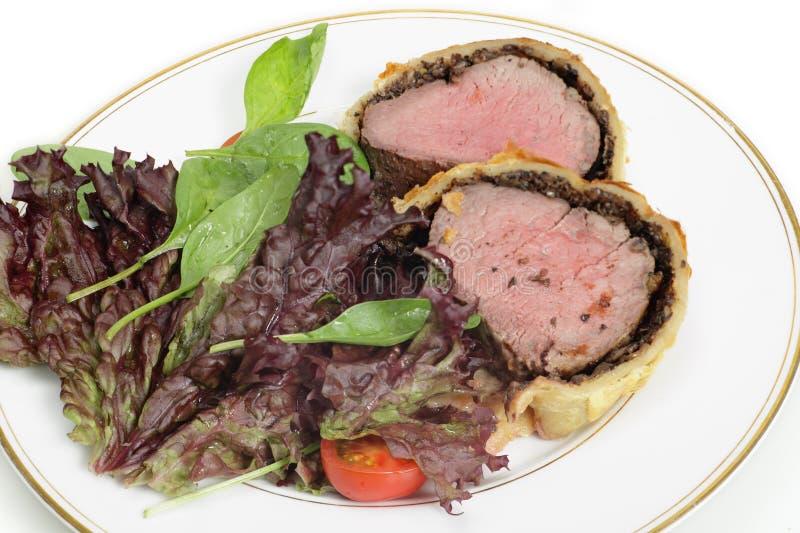 Σαλάτα με το βόειο κρέας Ουέλλινγκτον στοκ φωτογραφίες με δικαίωμα ελεύθερης χρήσης