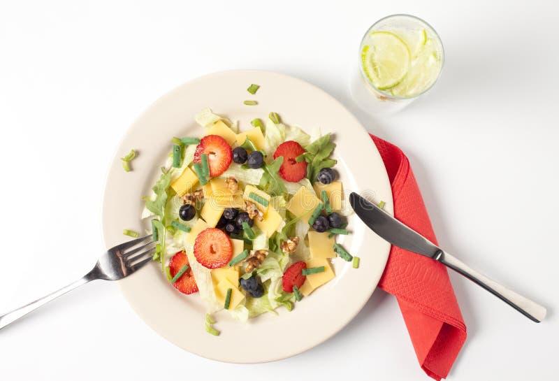 Σαλάτα τυριών στοκ εικόνες