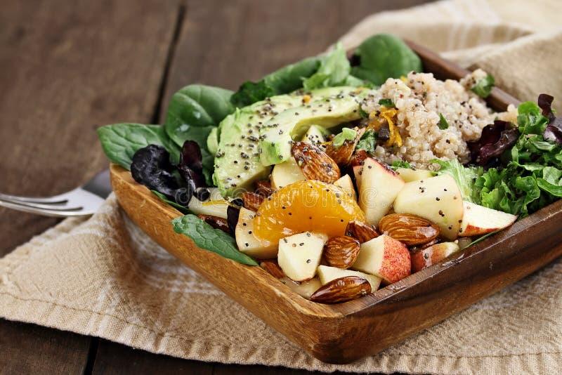 Σαλάτα φρούτων και Quinoa στοκ εικόνα