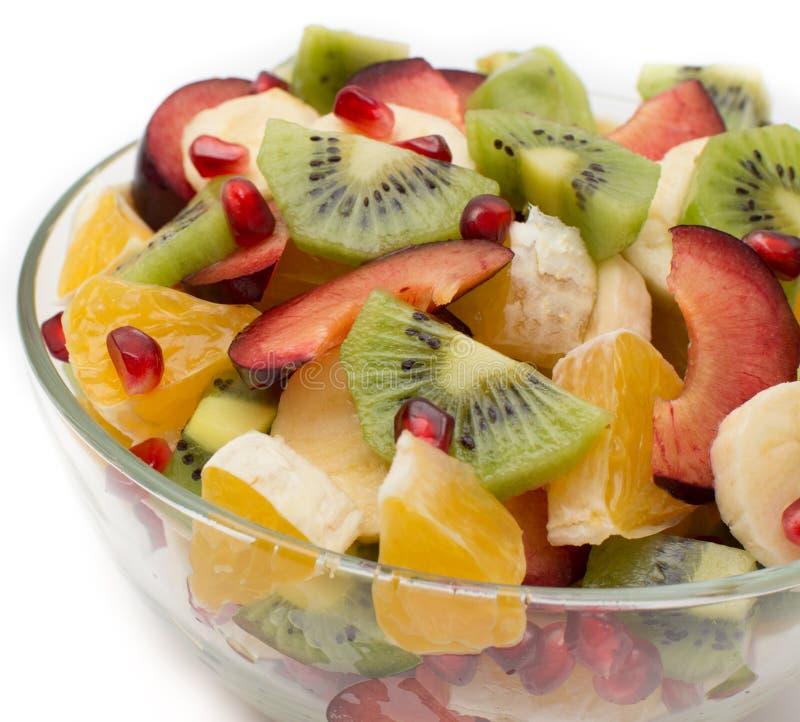 σαλάτα φρούτων σε ένα βάζο στοκ εικόνα