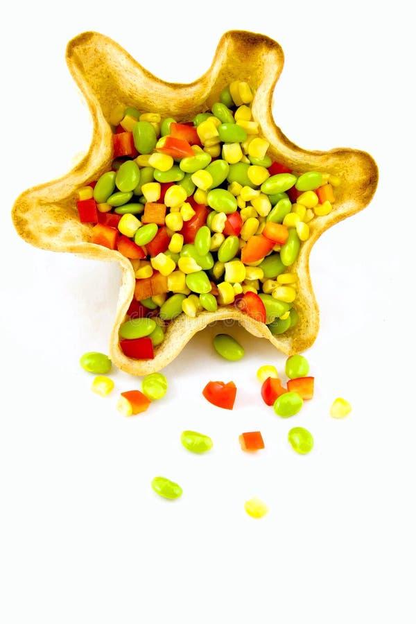 Σαλάτες Edamame στοκ εικόνες