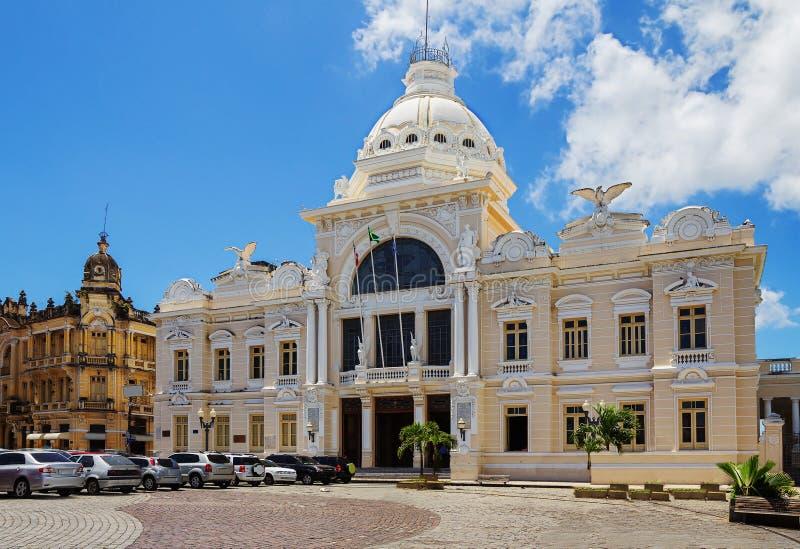 _ Σαλβαδόρ Παλάτι των τεχνών Rodin στοκ εικόνα με δικαίωμα ελεύθερης χρήσης