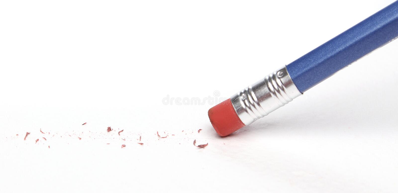 σβήνοντας μολύβι λάθους στοκ φωτογραφία
