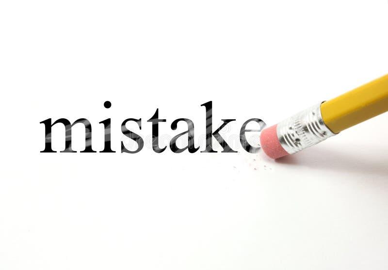 Σβήσιμο του λάθους σας στοκ φωτογραφία με δικαίωμα ελεύθερης χρήσης
