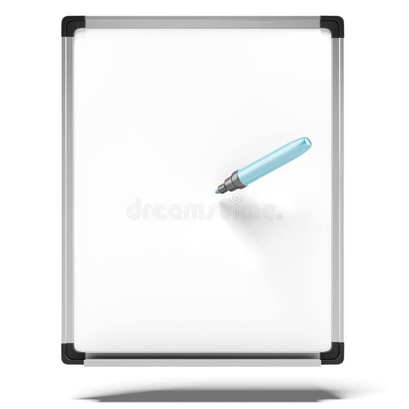 Σβήστε τον πίνακα με τον μπλε δείκτη ελεύθερη απεικόνιση δικαιώματος