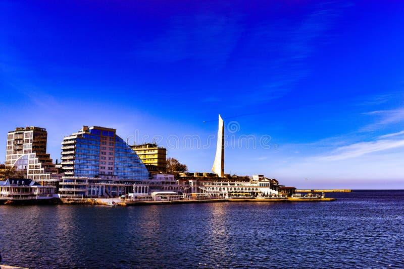 Σεβαστούπολη 2019 ηλιόλουστος Μάρτιος στοκ εικόνες