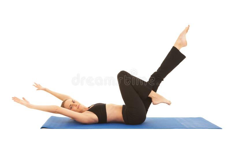 σειρά άσκησης pilates στοκ φωτογραφία με δικαίωμα ελεύθερης χρήσης