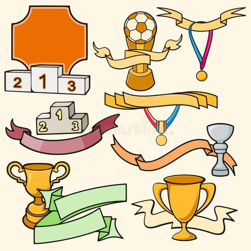 Σειρά αθλητικών προτύπων Στοκ Εικόνες
