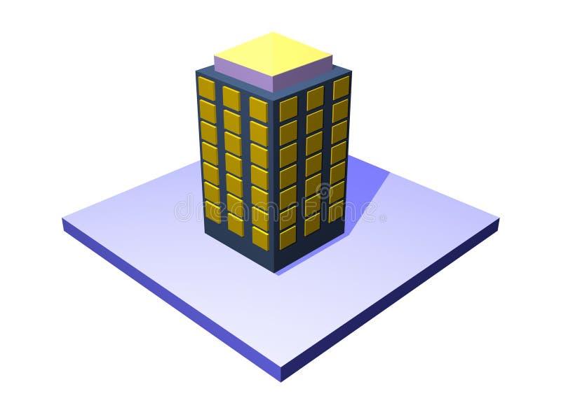 σειρά ακίνητων περιουσιών κτηρίου διαμερισμάτων απεικόνιση αποθεμάτων