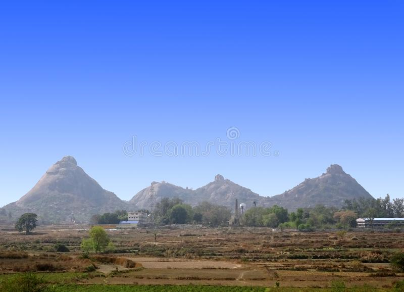 Σειρά βουνών λόφων Pahar Joychandi στη δυτική Βεγγάλη Ινδία Purulia στοκ φωτογραφία με δικαίωμα ελεύθερης χρήσης