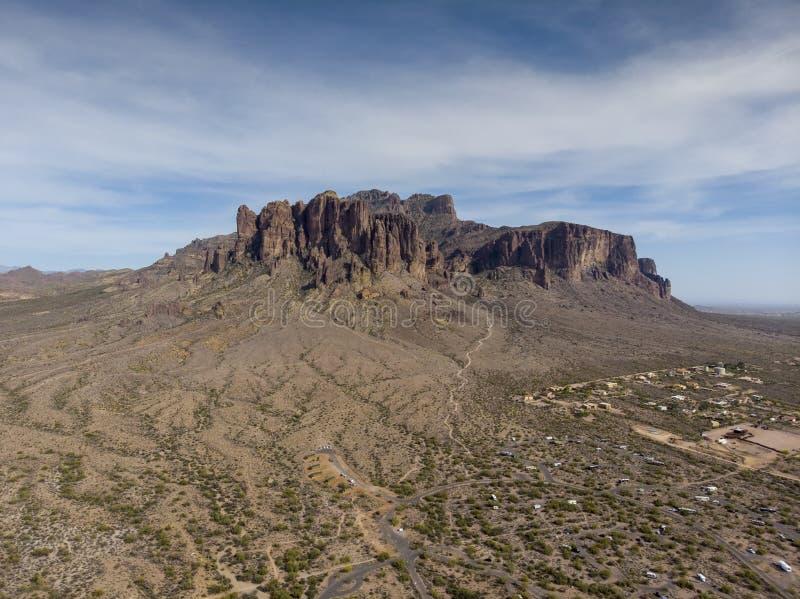 Σειρά βουνών νοτιοδυτικές έρημος των Ηνωμένων Πολιτειών στοκ εικόνα