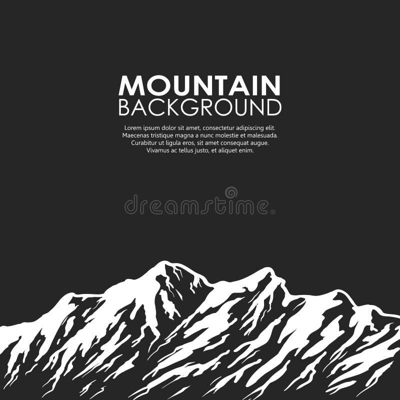 Σειρά βουνών στο μαύρο υπόβαθρο ελεύθερη απεικόνιση δικαιώματος