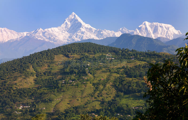 σειρά βουνών annapurna στοκ φωτογραφία με δικαίωμα ελεύθερης χρήσης