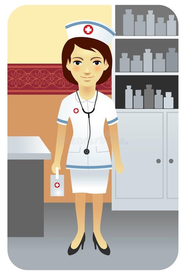 σειρά επαγγέλματος νοσοκόμων ελεύθερη απεικόνιση δικαιώματος