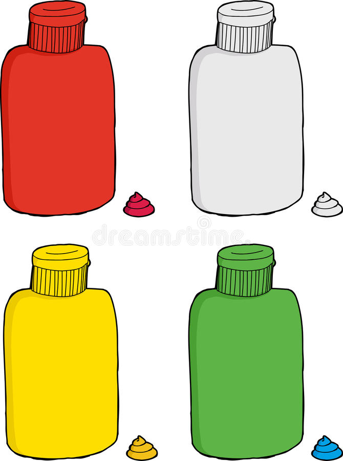 Σειρά διάφορων μπουκαλιών ελεύθερη απεικόνιση δικαιώματος