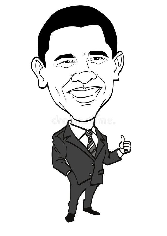 Σειρά καρικατουρών - Barack Obama απεικόνιση αποθεμάτων