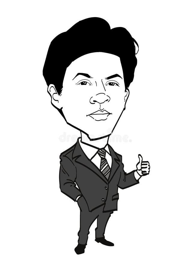 Σειρά καρικατουρών - Shah Rukh Khan απεικόνιση αποθεμάτων