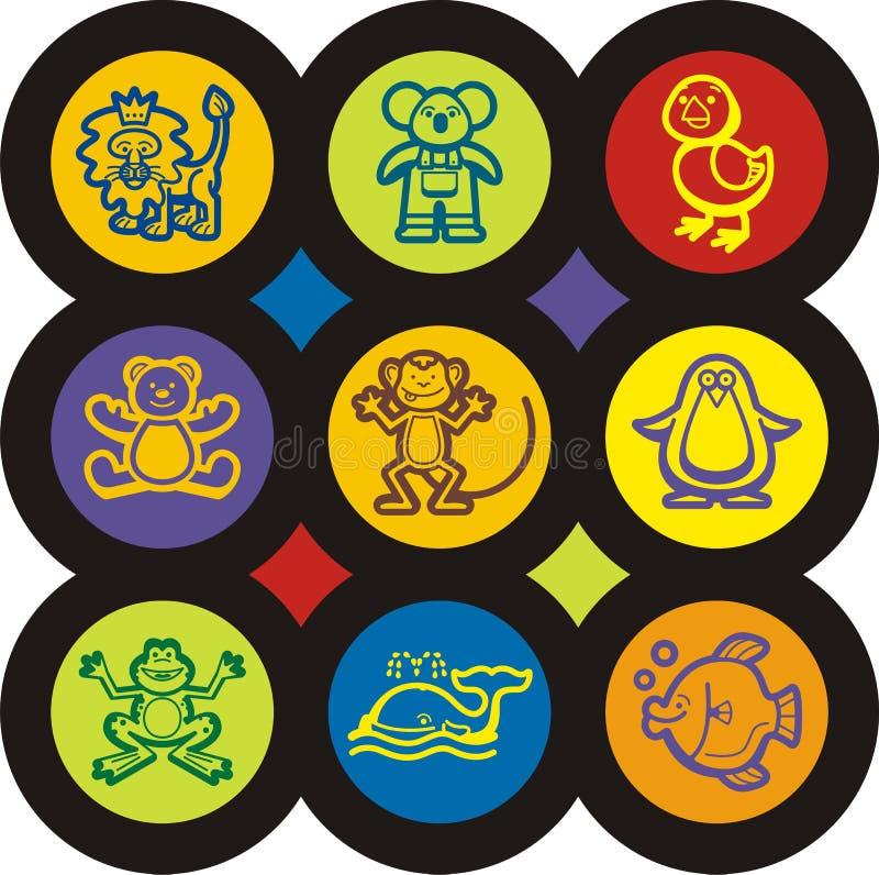 σειρά κατσικιών εικονιδίων μωρών απεικόνιση αποθεμάτων