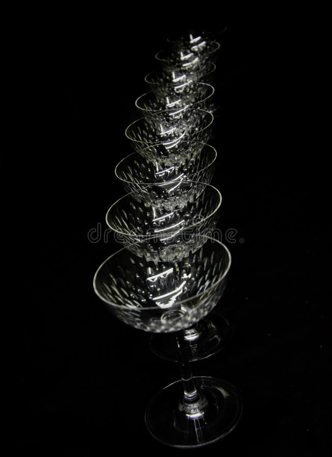 σειρά κρυστάλλου stemware στοκ φωτογραφία με δικαίωμα ελεύθερης χρήσης