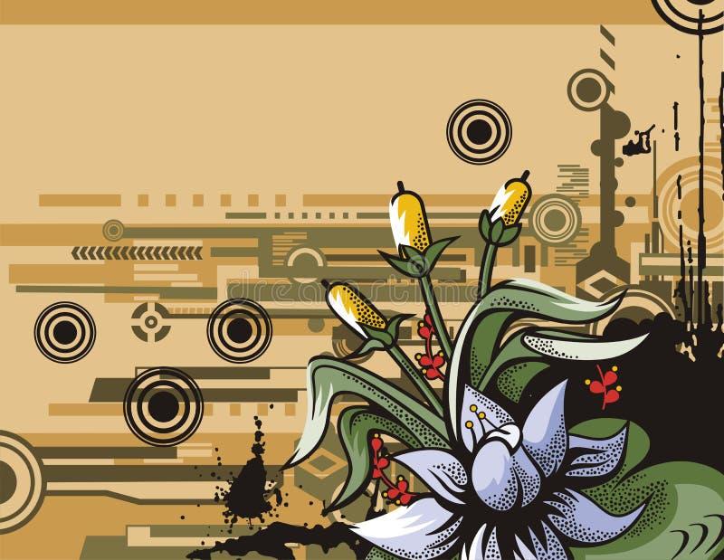 σειρά λουλουδιών ανασκόπησης ελεύθερη απεικόνιση δικαιώματος