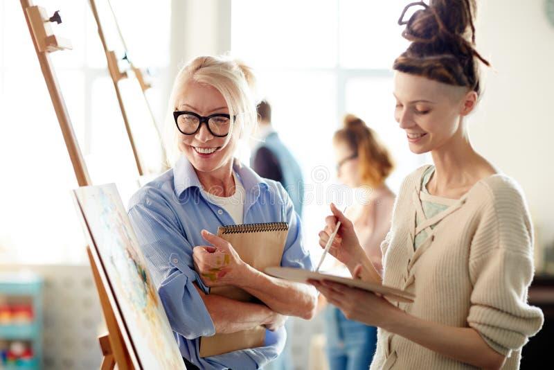 Σειρά μαθημάτων ζωγραφικής στοκ εικόνες με δικαίωμα ελεύθερης χρήσης