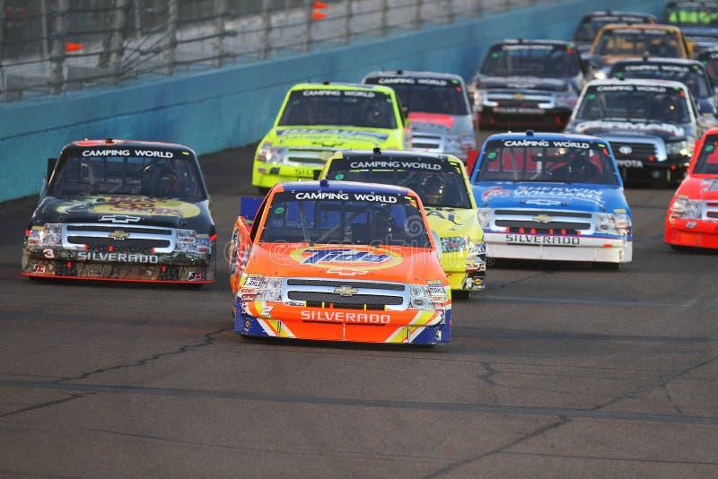 Σειρά παγκόσμιων φορτηγών στρατοπέδευσης NASCAR στοκ εικόνες με δικαίωμα ελεύθερης χρήσης