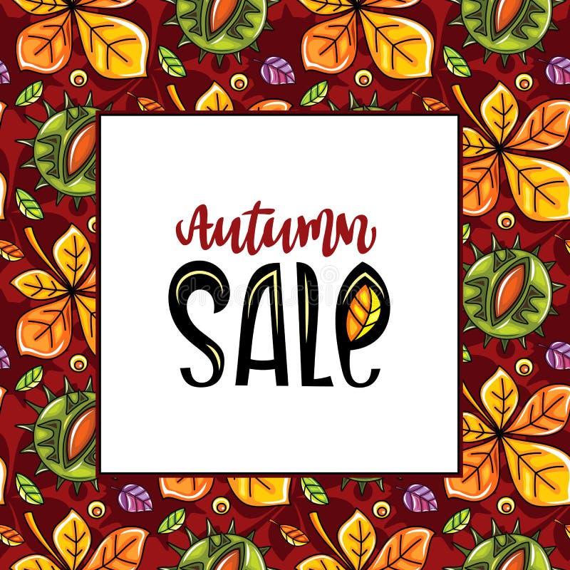 Σειρά πώλησης φθινοπώρου διανυσματική απεικόνιση