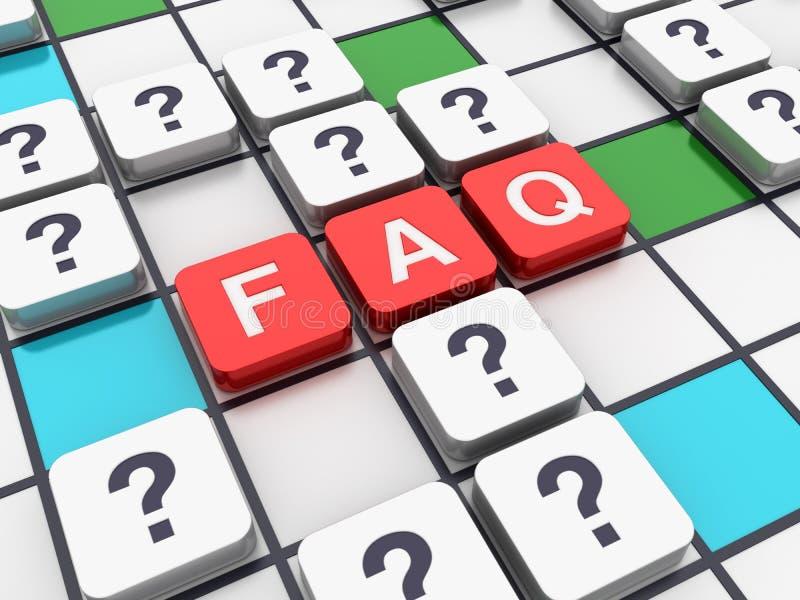 Σειρά σταυρόλεξων: FAQ ελεύθερη απεικόνιση δικαιώματος