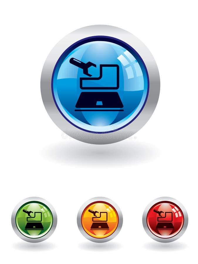 σειρά συντήρησης κουμπιών ελεύθερη απεικόνιση δικαιώματος