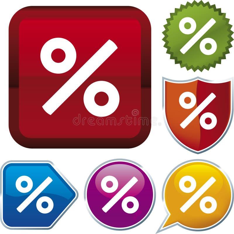 σειρά τοις εκατό εικονιδίων διανυσματική απεικόνιση