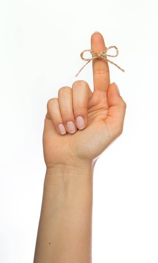 Σειρά υπενθυμίσεων γύρω από το δάχτυλο στοκ φωτογραφίες με δικαίωμα ελεύθερης χρήσης