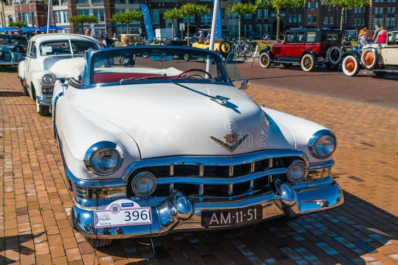 Σειρά 62 Cadillac Oldtimer στην ετήσια εθνική ημέρα oldtimer σε Lelystad στοκ εικόνα