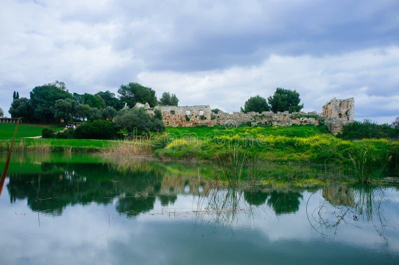 Σειρά Holyland - εθνικό πάρκο panorama#2 Afek στοκ εικόνα με δικαίωμα ελεύθερης χρήσης