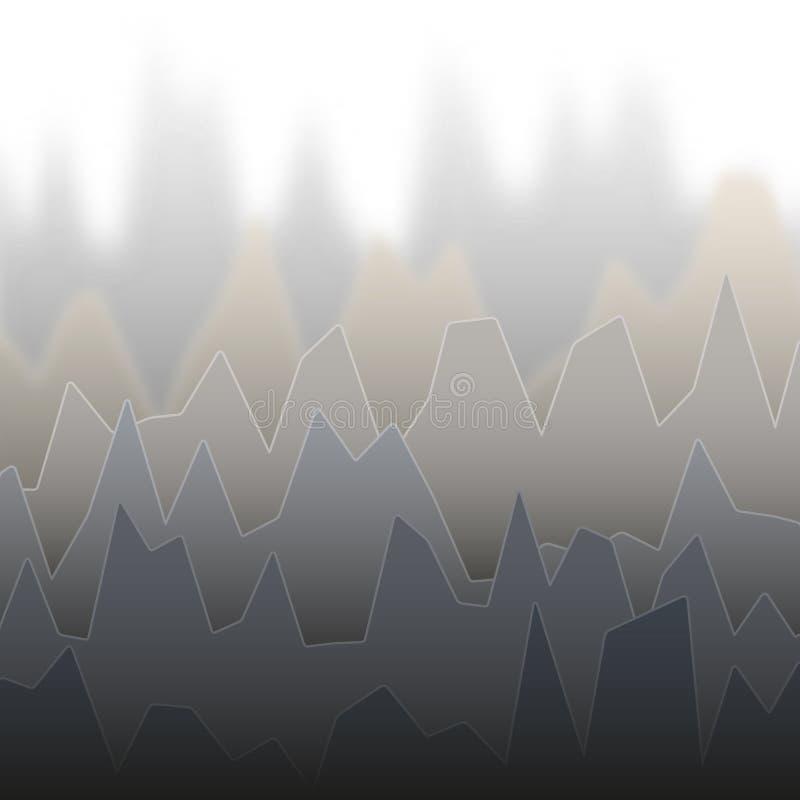 Σειρές του γκρίζου χρωματισμένου διαγράμματος με τις αιχμές του διαφορετικού ύψους ελεύθερη απεικόνιση δικαιώματος