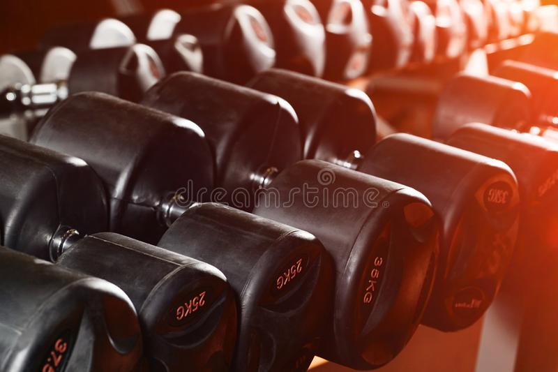 Σειρές των αλτήρων στη γυμναστική στοκ εικόνες