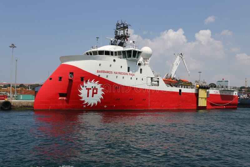 Σεισμογραφικό σκάφος έρευνας και ερευνών στοκ φωτογραφία