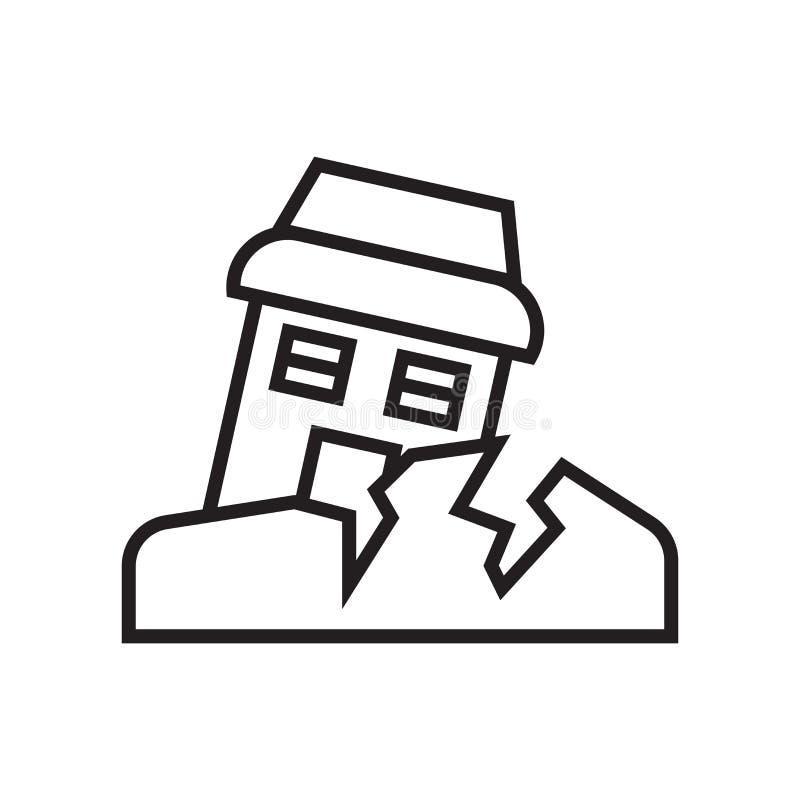 Σεισμού σημάδι και σύμβολο εικονιδίων διανυσματικό που απομονώνονται στο άσπρο backgro ελεύθερη απεικόνιση δικαιώματος