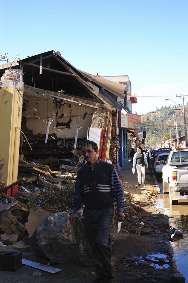 σεισμός 8 Χιλή richter στοκ εικόνες