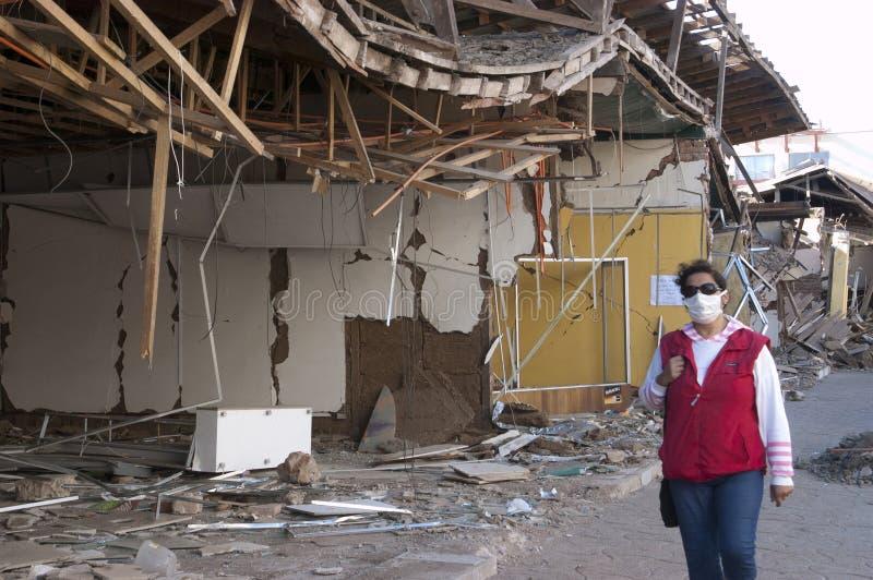 σεισμός 8 Χιλή richter στοκ εικόνες με δικαίωμα ελεύθερης χρήσης