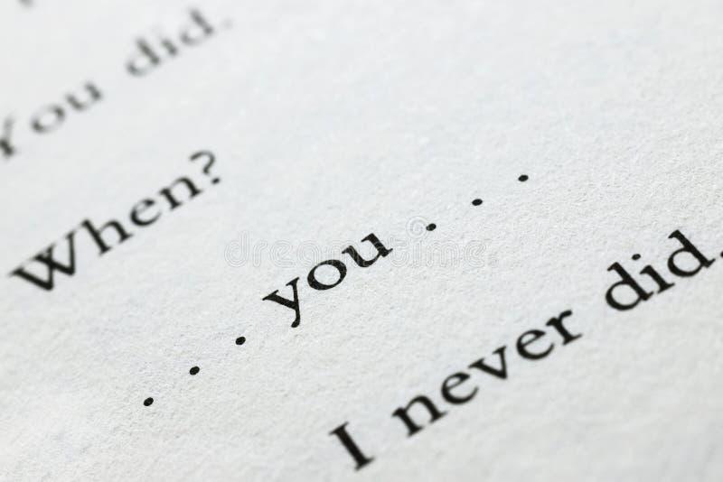 Σελίδα βιβλίων με τις λέξεις στοκ φωτογραφία με δικαίωμα ελεύθερης χρήσης